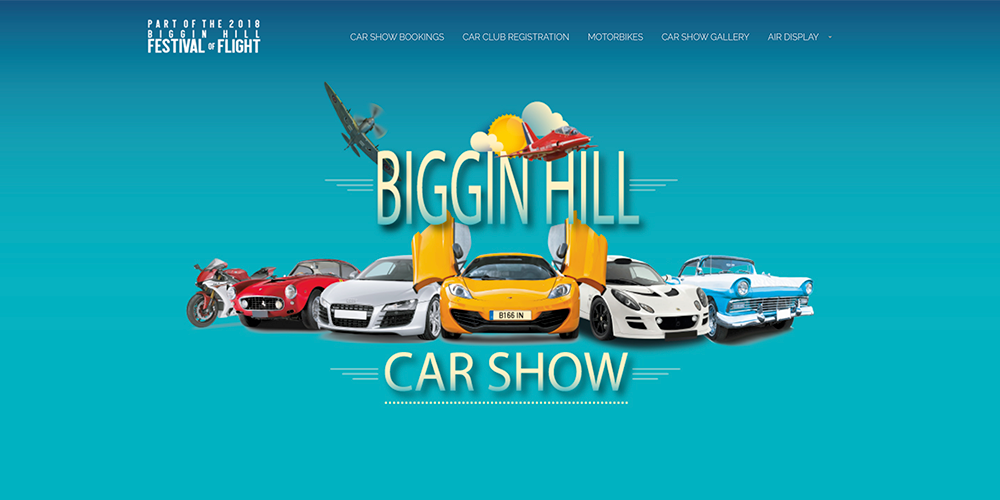 Biggin Hill Car Show Web Design