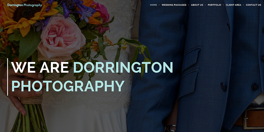 Dorrington Photography Web Design